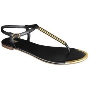 Mossimo Falk Black Thong Sandals